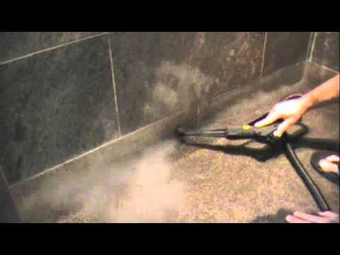 Removing wax and Mopping Residues with a Dupray Steam Cleaner