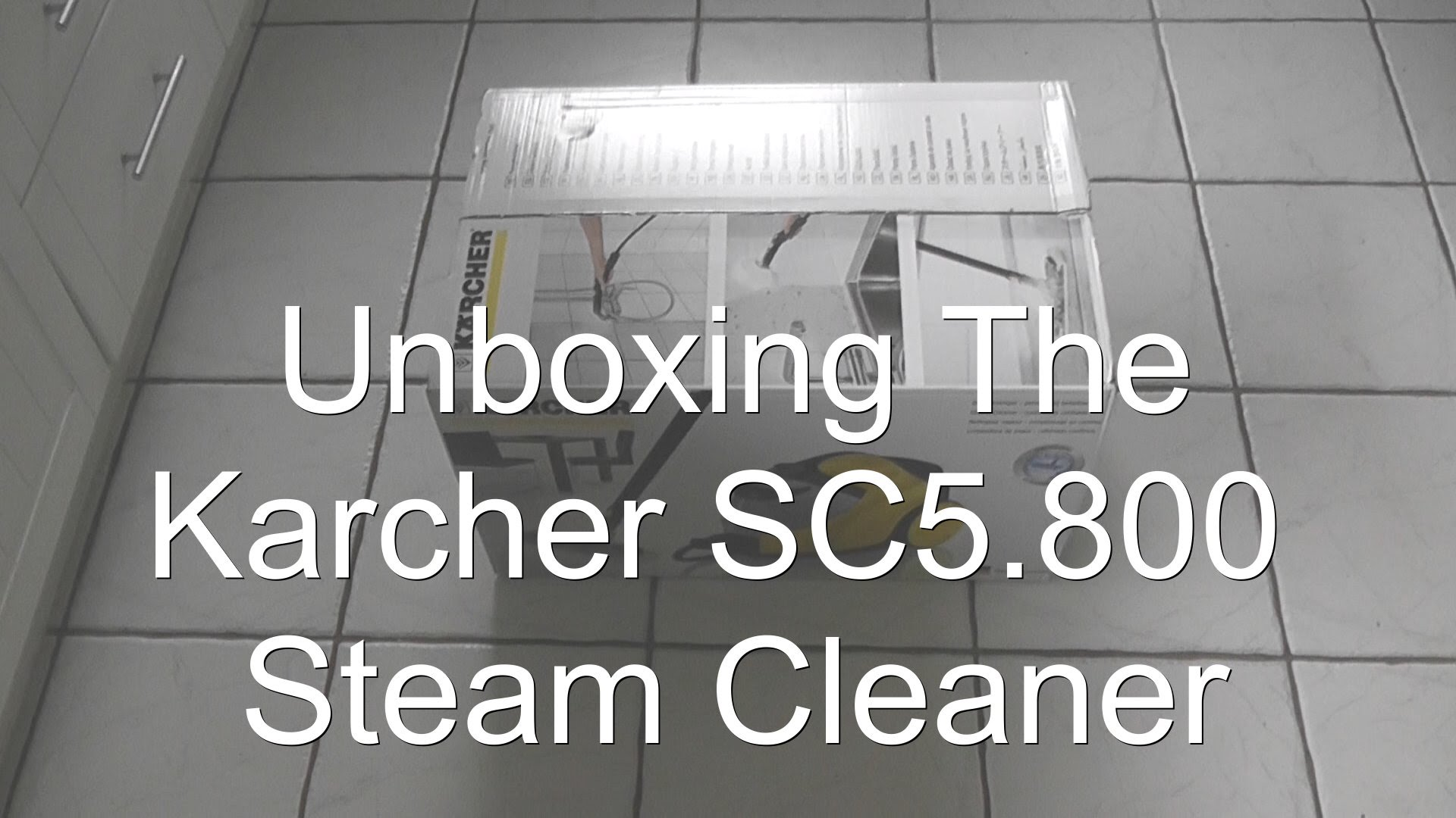 Karcher SC5.800C Steam Cleaner Unboxing and Warm Up