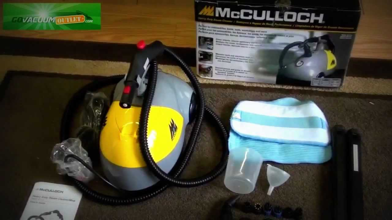 McCulloch Heavy Duty Steam Cleaner Mop MC 1250 Unboxing Review
