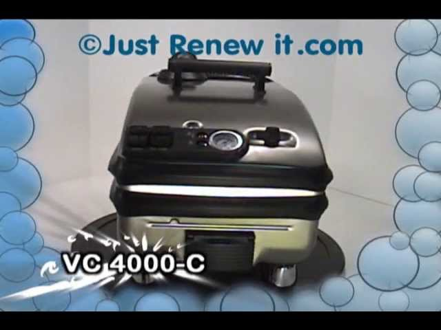 1- VAPOR STEAM CLEANER VC-4000-C,  JRI Features Video, Commercial / Industrial Steam Cleaner