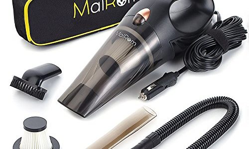 Car Vacuum Cleaner – Car Vacuum High Suction Power 4.3 KPa Handheld Portable Auto Detailer Wet Dry – Pet Hair – Upholstery – Power Cord 16.7 ft (5m) – Incl.Extra Filter and Replaceable Fuse