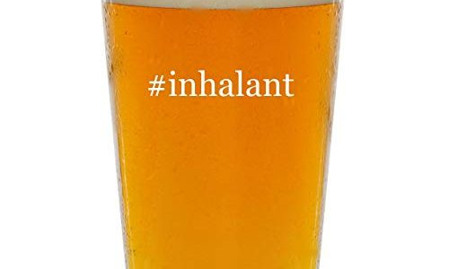 #inhalant – Glass Hashtag 16oz Beer Pint