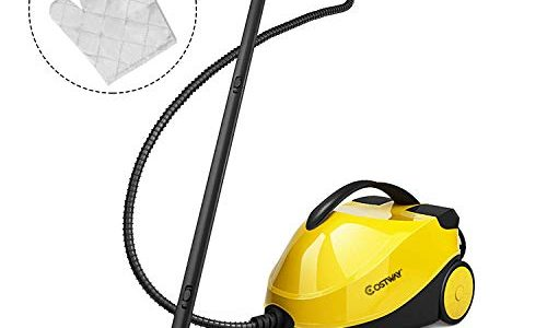 COSTWAY Steam Cleaner with Glove & Dual-Tank System,1500ML (51 OZ) Water Tank 2000W Steam Cleaner with 17-Piece Accessory Set – Multi-Purpose and Multi-Surface, Ideal for Floors, Windows and Carpet