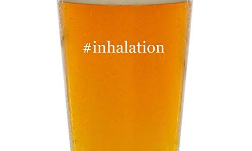 #inhalation – Glass Hashtag 16oz Beer Pint