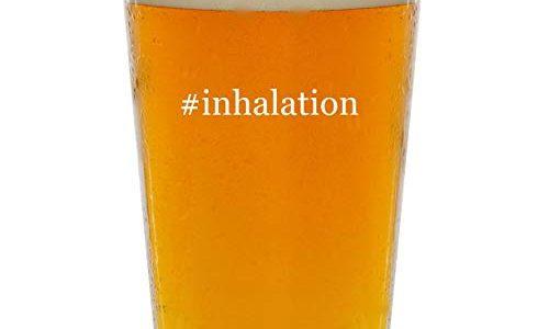 #inhalation – Glass Hashtag 16oz Beer Pint
