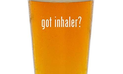 got inhaler? – Glass 16oz Beer Pint
