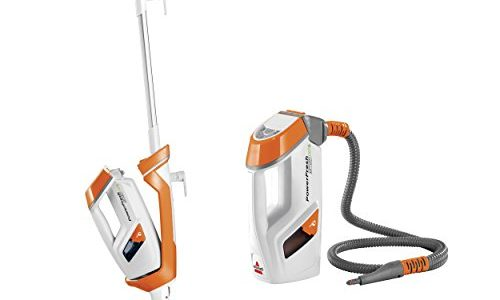 Bissell PowerFresh Lift-Off Pet Steam Mop, Steamer, Tile, Bathroom, Hard Wood Floor Cleaner, 1544A, Orange