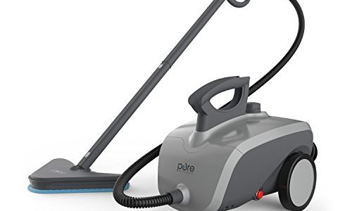 Pure Enrichment PureClean XL Rolling Steam Cleaner – 1500-Watt Multi-Purpose Household Steam Cleaning System – 18 Accessories for Deep Cleaning Floors, Windows, BBQ Grills, Ovens, Vehicles and More