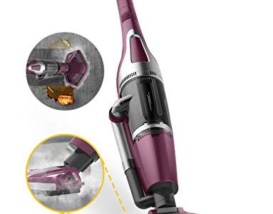 Thermostat All in One Steam Vacuum Cleaner and Steam Mop with Microfiber Mop Pad & 12kPA Strong Suction Power for Carpet, Hardwood, Ceramic Tile, Granite and Mable Floor (Purple)